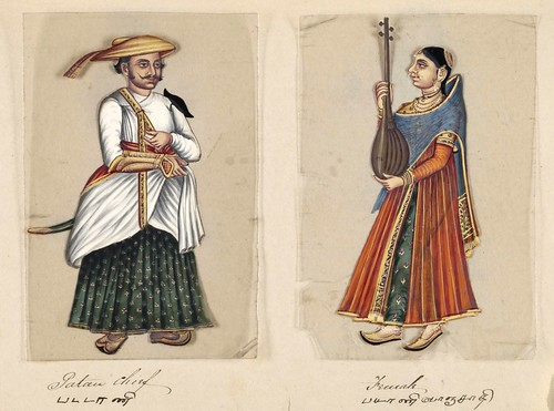 002-Jefe Patau y su mujer-Seventy two specimens of castes in India 1837