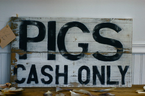 pigs — cash only