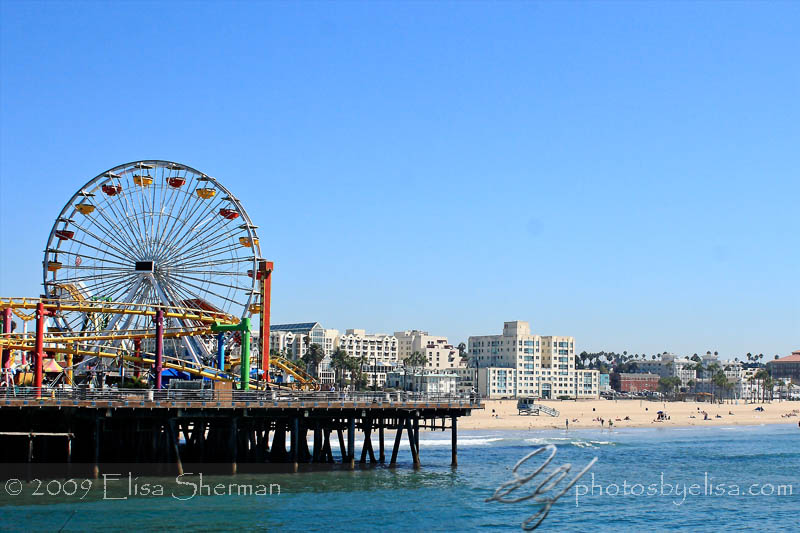 Santa Monica Pier ferris wheel by Elisa Sherman   photosbyelisa.com