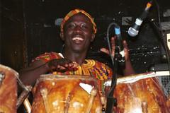 Mac Tontoh Project from Ghana at the Africa Centre London July 2001 061 drums (photographer695) Tags: world africa from 2001 music london mac african centre band july jazz ghana warriors ashanti kete trumpeter amanas osibisa tontoh nanaeba exosibisa