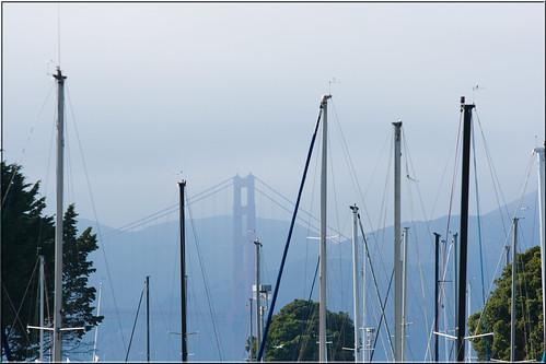 Golden Gate Bridge и мачты
