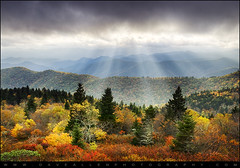 Blue Ridge Parkway Autumn Light Rays - Enlightenment (Dave Allen Photography) Tags: lighting autumn trees light sky mountains fall nature beautiful beauty leaves clouds landscape outdoors photography evening nc nikon colorful seasons asheville vibrant northcarolina fallfoliage foliage parkway hendersonville carolina sunrays dramaticsky blueridgemountains beams hdr highdynamicrange blueridgeparkway daveallen lightrays raysoflight godbeams wnc godrays d300 brevardnc naturesfinest westernnorthcarolina ashevillenc leafchange hendersonvillenc 1735mm28 superaplus aplusphoto platinumheartaward nikond300 absolutelystunningscapes daveallenphotography mygearandme mygearandmepremium mygearandmebronze mygearandmesilver mygearandmegold mygearandmeplatinum mygearandmediamond