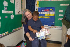 Mary Ann and one of the students she visits