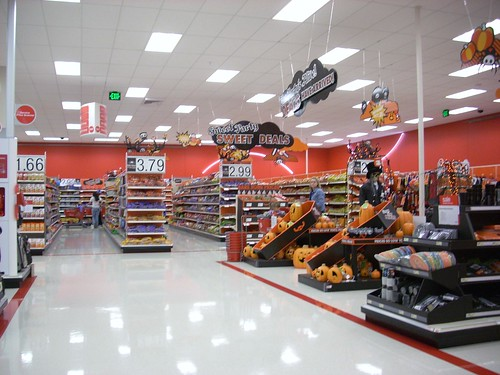 target store interior. Target interior