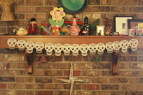 Paper Sugar Skull Banner