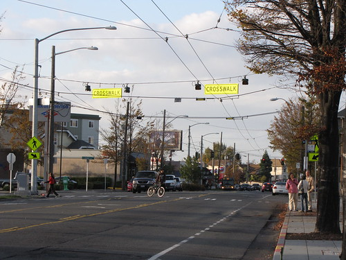 New pedestrian warning signage on Beacon Avenue South