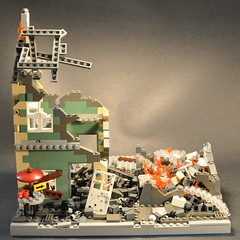 Destroyed houses from OpB (The Ranger of Awesomeness) Tags: lego wwii moc brickarms