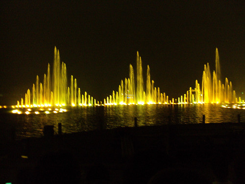Fountains in Hangzhou, China on West Lake