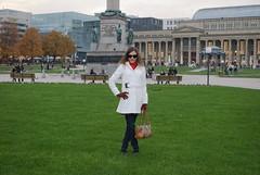 Farah auf dem Schlossplatz