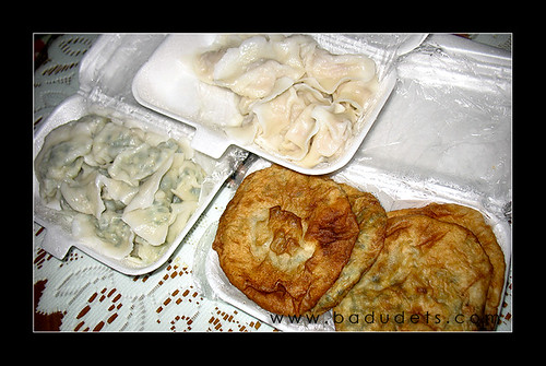 pancakes and dumplings for take-out