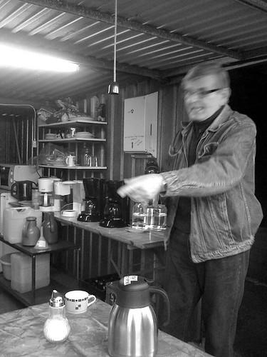Kaffee gleich fertig