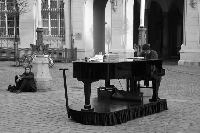 Arne Schmitt, a street musician