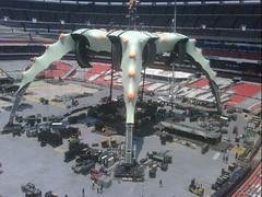 Septimo día de montaje - Estadio Azteca 48