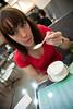 gadgetgirl with ginger steamed milk (Rob Barker) Tags: amy kowloon nathanroad gadgetgirl yeeshunmilkcompany