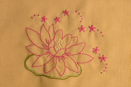 Lotus Embroidery