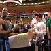 Dwight Howard signing autographs and dealing with hecklers