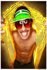 .WoW. (.SANCHEZ.) Tags: man smile cheese digital photoshop canon hair funny shiny colorful bright vibrant chest style dude grin mustache burst sequence ringflash sanchez catchlight vizor 40d bendecamp thestyleshark kennysanchez kennysanchezcom
