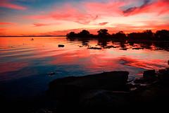 rochas molhadas (Gustavo RS) Tags: pink blue trees red sky orange black water rio azul clouds reflections river agua rocks laranja portoalegre rosa preto vermelho nuvens arvores poa ceu reflexos guaiba rochas