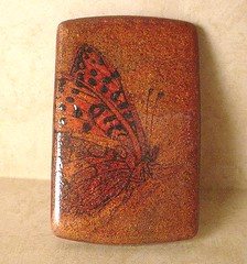 Copper Butterfly Pendant (DivaDesigns1) Tags: paris art collage butterfly pin handmade turquoise verdigris brooch eiffeltower butterflies jewelry tribal polymerclay photograph monarch obelisk familytree copper daguerreotype ethnic stamped pendant timeless embossed parisian ancestry treeoflife polymer vintagephoto fauxvintage fauxfinish pebbled vintagelook embossingpowder memorialization fauxcollage diamondpattern antiquecopper artisanbead vintagecopper thursdayclayandplay