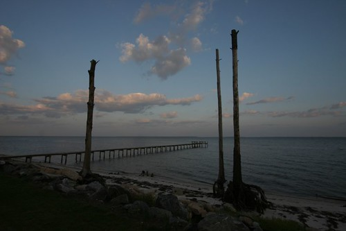 Dusk at Green Point, The Forgotten Coast, Florida.