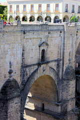 Ronda's Old New Bridge (cwgoodroe) Tags: summer costa white hot sol beach del bells spain ancient europe churches sunny bull bullfighter adobe ronda moors walls washed clothesline protective newbridge roda bullring stonebridge oldbridge spainish whitehilltown rondah spanishdoors