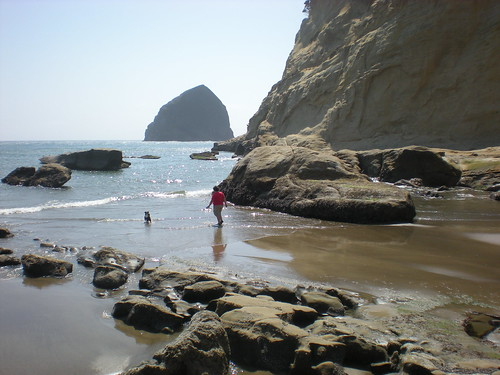 At the beach, Cape Kiwanda