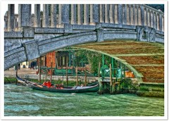 Under the bridge (*terry) Tags: bridge venice ponte gondola venezia lucisart gondoles supershot topazadjust