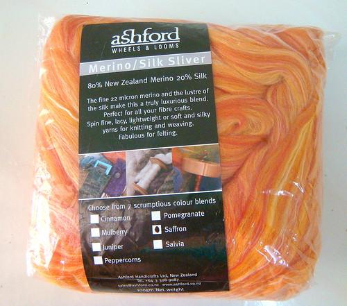 Merino/Silk Sliver Saffron