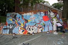 conscious cycle @ figment (Luna Park) Tags: nyc streetart ny newyork cake festival graffiti arts cycle lunapark cdamage figment rwk governorsisland artfair robotswillkill conscious paintjam consciouscycle ceito figment2009