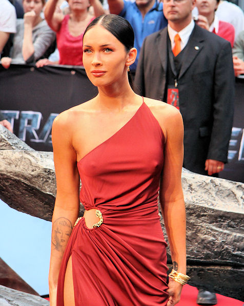 Transformers 2 Berlin Megan Fox muy linda
