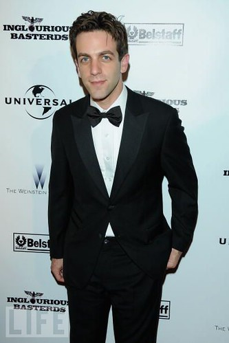 BJ Novak looking good in Alexander West Bespoke Tuxedo Shirt