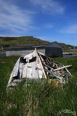 Fixer-upper? (gwhiteway) Tags: canada newfoundland boat iceberg ferryland