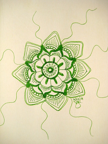 Diamine Kelly Green Mandala