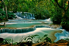 Kouang Si Waterfall Luang Prabang (DarrenWilch) Tags: blue green waterfall aqua asia si surreal falls laos emerald luang prabang kouang lplongexposure