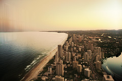 (Jennifer Elysse) Tags: ocean city sunset sky building beach boat view australia highrise queensland goldcoast home3 q1 explored lilyallen whodhaveknown aladdinhah