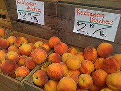 redhaven peaches at market