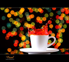 21 Bokeh - Splash (Faisal | Photography) Tags: red orange green colors yellow blackbackground canon eos bokeh l usm splash f28 ef ef2470mmf28lusm 2470mm bigfav 50d canoneos50d manfrotto190xprob 200908 canonremoteswitchrs80n3 faisal|photography 21bokehsplash myfavorite