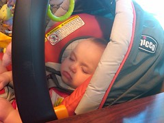 Liesl Sleeping at the Westchester Diner