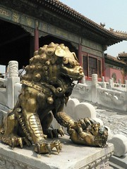 Lion dragon statue things (opanook) Tags: china history monument statue architecture buildings gold ancient memorial asia political beijing lion forbiddencity claws mingdynasty drgaon gateofheavenlypurity