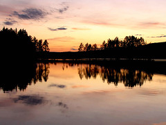 Sunset at Lake (Olof S) Tags: county sunset red wallpaper lake seascape reflection tree nature water skyline night rural canon landscape photography dawn landscapes countryside photo nice interesting scenery europe view sweden schweden country lappland natur picture natura swedish powershot lapland environment nordic sverige northland scandinavia northern paysage landschaft spiegelung paesaggio suede jmtland suecia norrland landskap manzara sj horten svezia jonk szwecja trollsjn mywinners sx10 naturessilhouettes sx10is