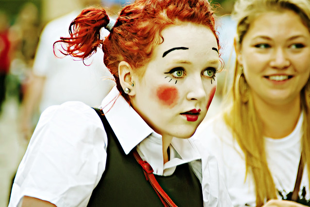 Girl at Edinburgh Fringe Festival
