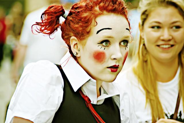 Girl at Edinburgh Fringe Festival