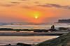 watching the sun shine down on sea (ツMaaar) Tags: sea bali pantaiseseh sesehbeach