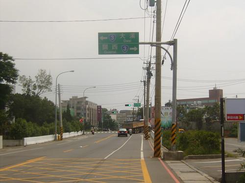 龍潭外環道路口
