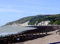 Eastbourne westward view (Elsie esq.) Tags: blue sea sky beach sussex pier seaside eastbourne groyne