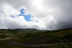 青空の下の北海岳