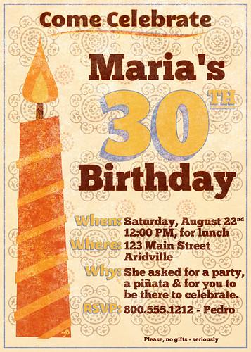 Maria's Invitation