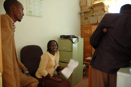 7th, Aug: The local councilor of Transmara was helping Kakenya draft the application letter for land registration.