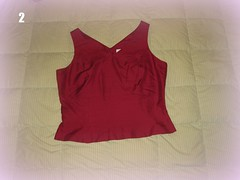 Wine Silk Top