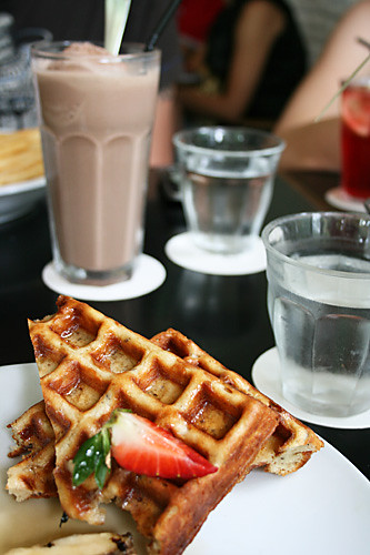 Waffles and milkshakes